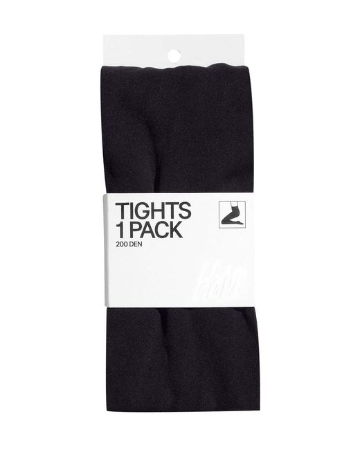 H&M | Black 200 Denier Tights | Lyst