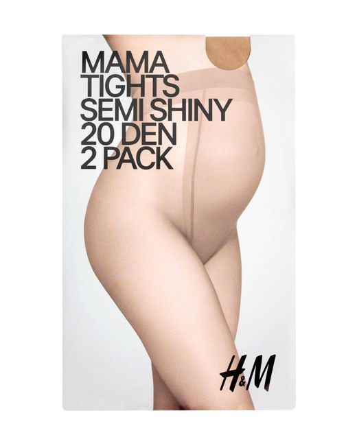 H&M   Natural Mama 2-pack Tights   Lyst