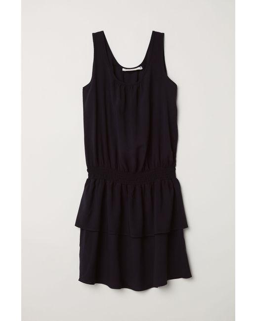 H&M - Black Sleeveless Dress - Lyst