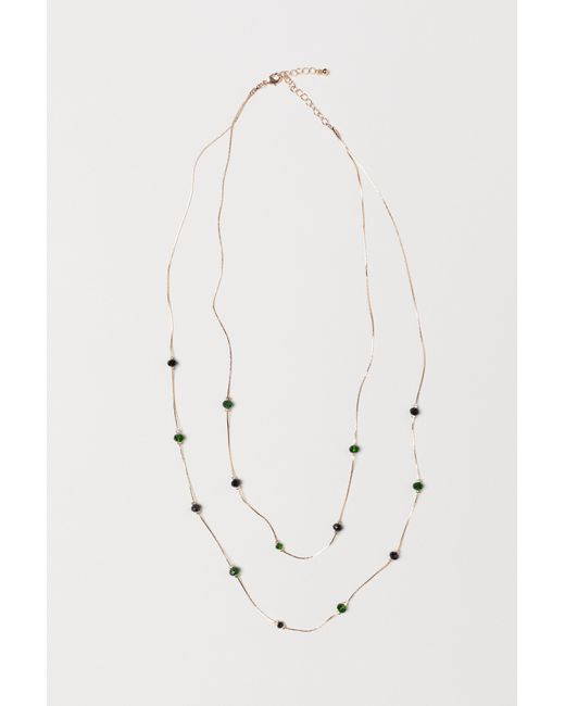 H&M - Metallic Double-strand Necklace - Lyst