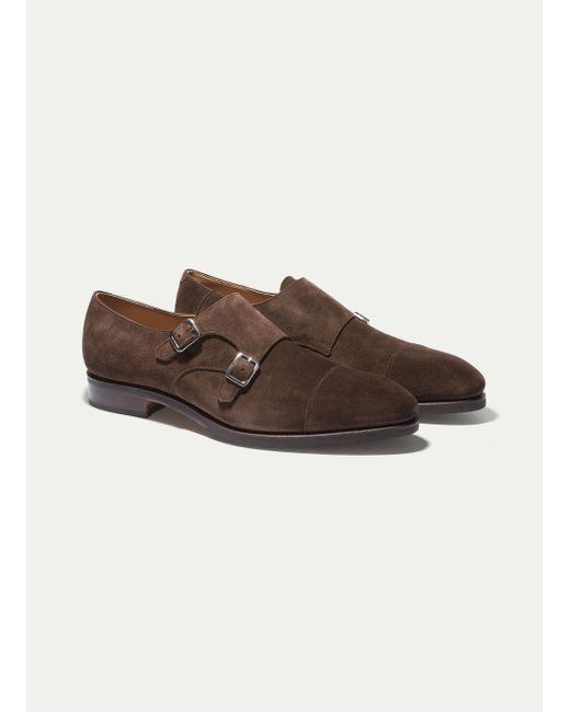 Hackett - Brown The Double Monk Strap Shoe for Men - Lyst