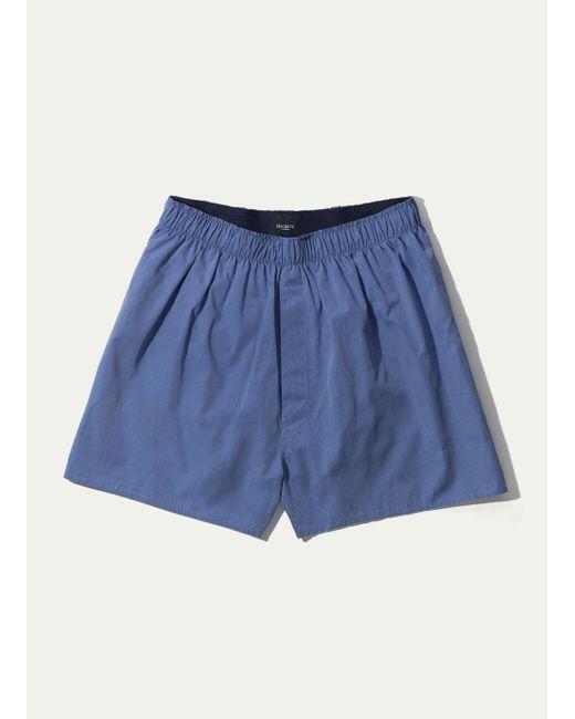 Hackett - Blue Solid Colour Cotton Boxer Shorts for Men - Lyst