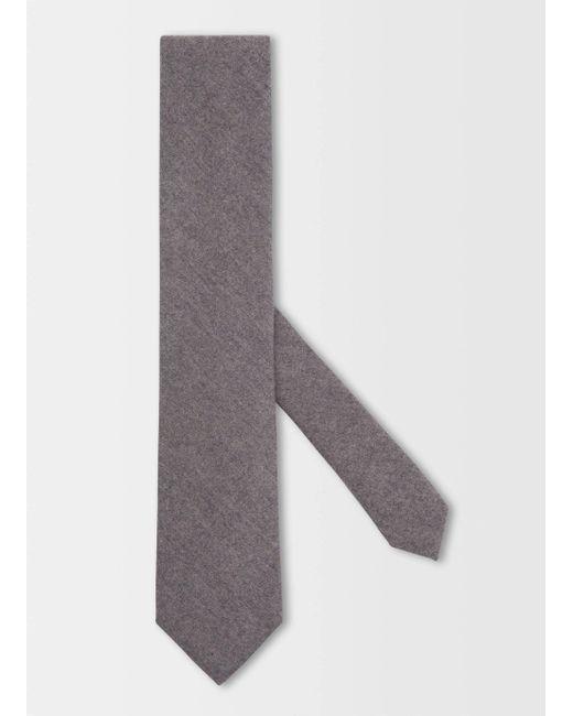 Hackett | Gray Jp Fox Plain Tie for Men | Lyst