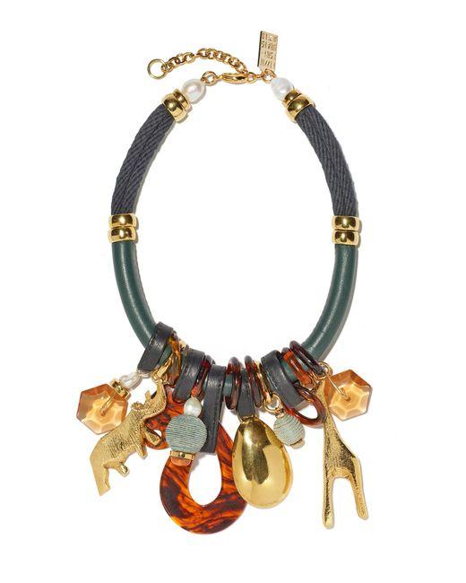 Lizzie Fortunato   Multicolor Safari State Of Mind Necklace   Lyst