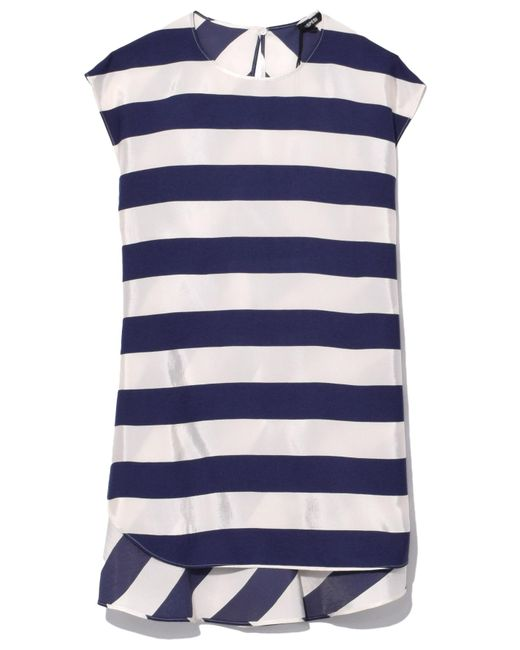 Aspesi - Blue Stripe Top In Bianco - Lyst