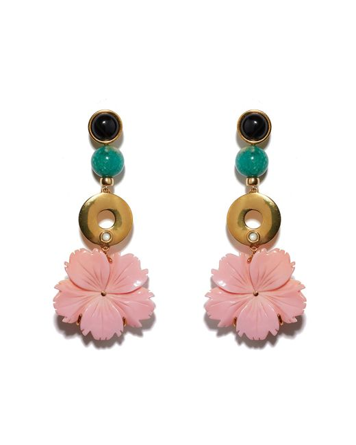 Lizzie Fortunato - Pink Sardinia Earrings - Lyst