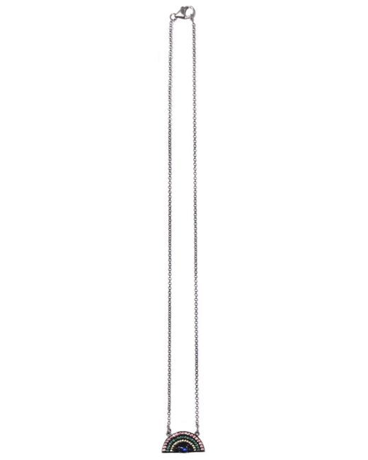 Theodosia - Metallic Rainbow Necklace On Oxidized Chain - Lyst