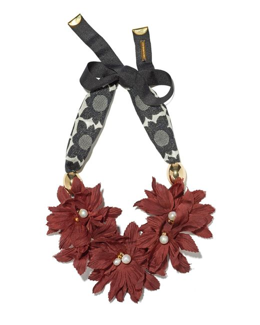Lizzie Fortunato | Red Samburu Floral Collar | Lyst