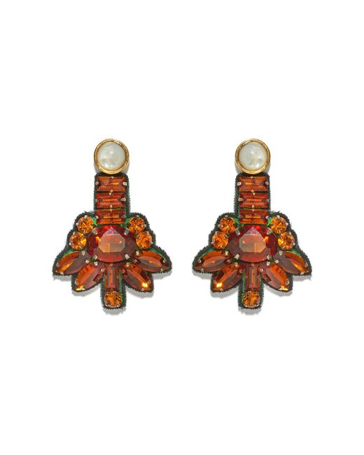 Lizzie Fortunato | Brown Amber Blossom Earrings | Lyst