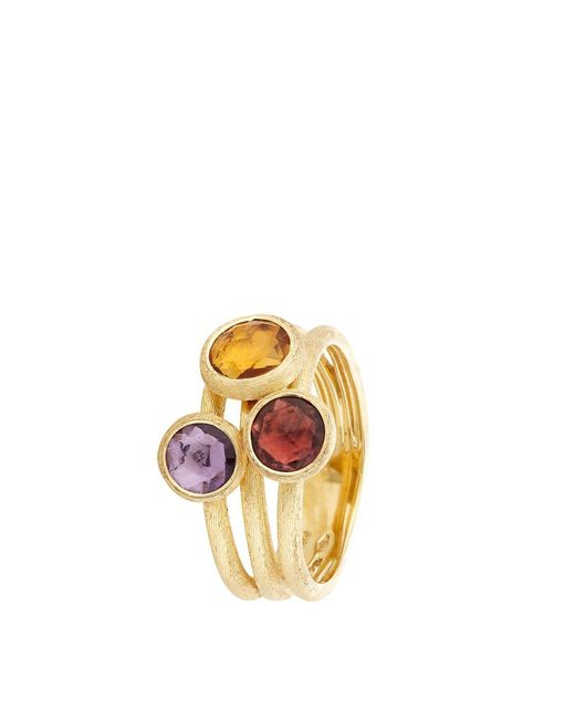 Marco Bicego | Yellow Jaipur Triple Stone Ring | Lyst