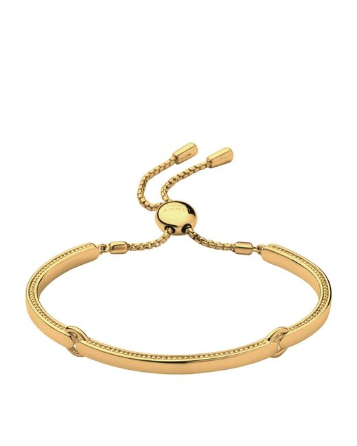 Links of London - Metallic Narrative Yellow Gold Bracelet - Lyst
