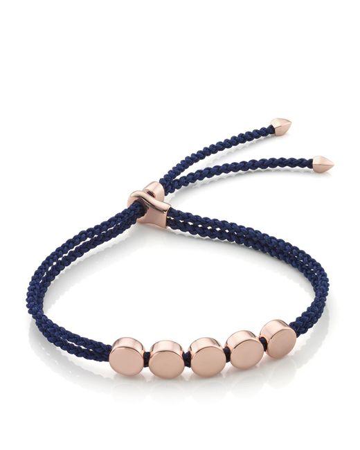 Monica Vinader - Blue Linear Bead Friendship Bracelet - Lyst