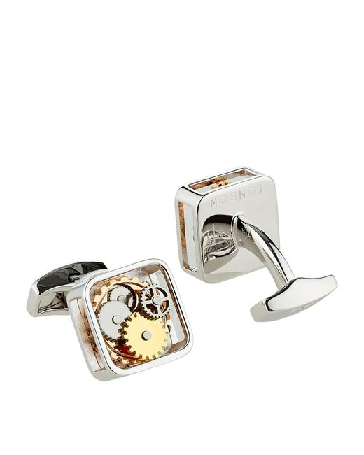 Tateossian - Metallic Square Gear Cufflinks for Men - Lyst