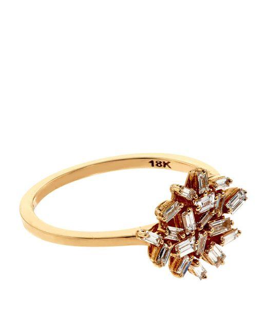 Suzanne Kalan - Baguette White Diamond Firework Ring - Lyst