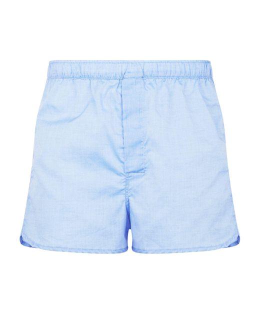 Derek Rose Blue Dr Boxer Short Modern Fit Woven for men
