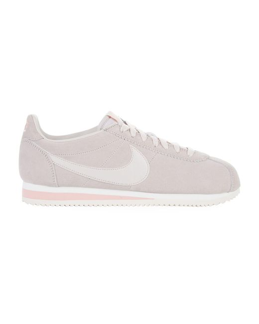 Nike - Natural Classic Cortez Suede Sneakers - Lyst