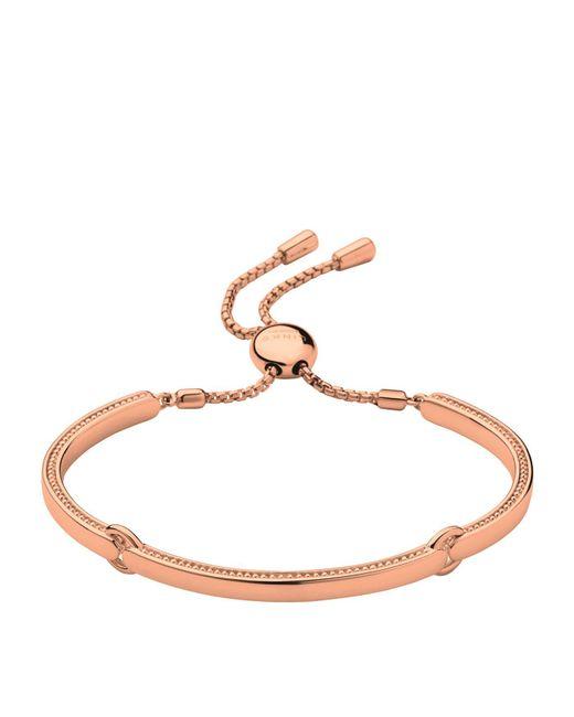 Links of London - Metallic Narrative Rose Gold Bracelet - Lyst