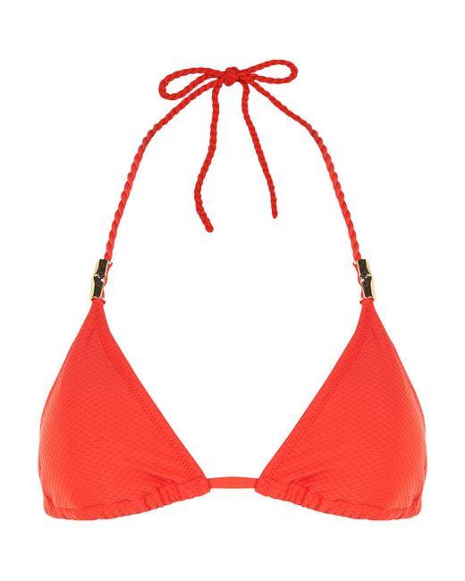 Heidi Klein - Red Rope Tie Triangle Bikini Top - Lyst