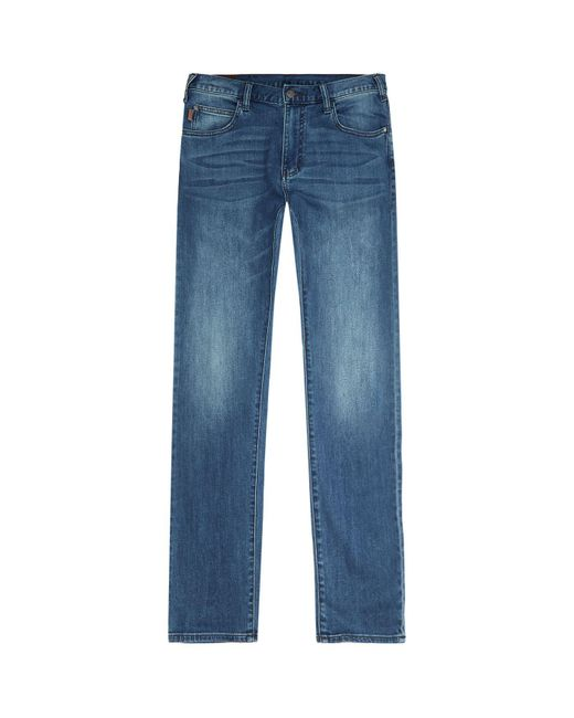 Armani | Blue J45 Slim Fit Jeans for Men | Lyst