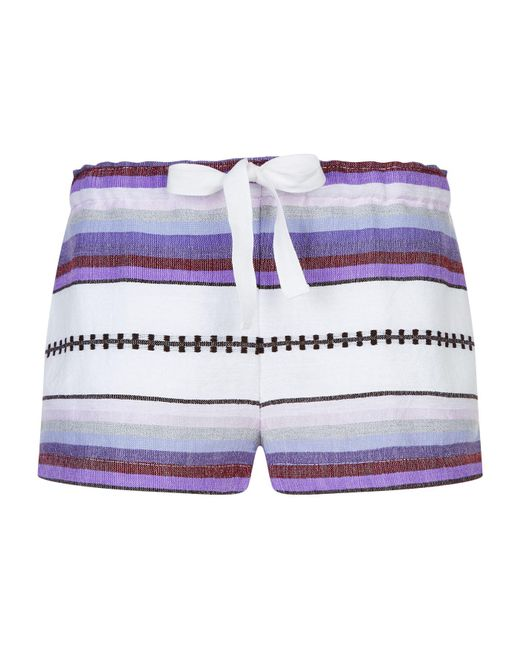 Lemlem | Purple Adia Shorts | Lyst