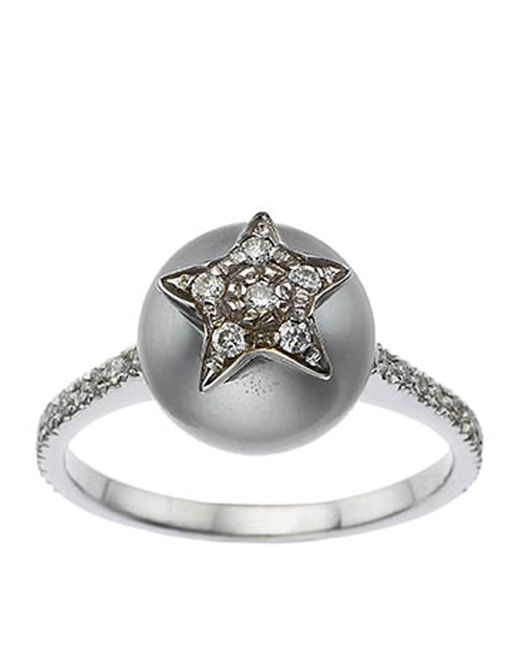 Carolina Bucci   White Pav Star Pearl Ring   Lyst