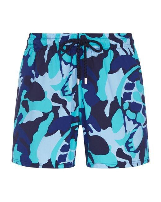 Vilebrequin - Blue Moorise Giant Turtle Swim Shorts for Men - Lyst