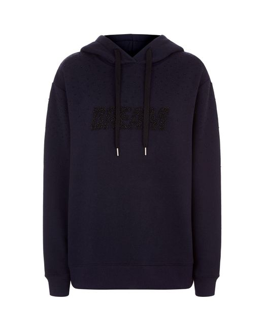 Sandro - Blue Beaded Dream Hoodie - Lyst