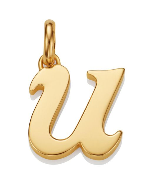 Monica Vinader - Metallic Gold Lower Case U Pendant - Lyst
