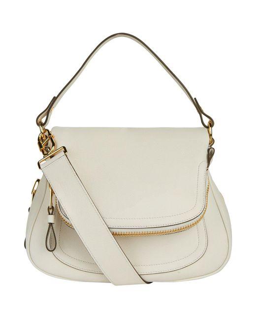 Tom Ford - White Medium Leather Jennifer Cross Body Bag - Lyst