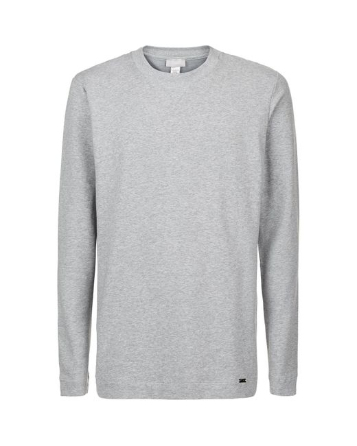 Hanro Gray Marl Lounge Top for men