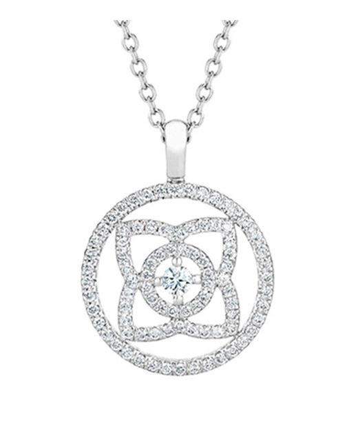 De Beers - Metallic White Gold And Diamond Enchanted Lotus Openwork Pendant - Lyst