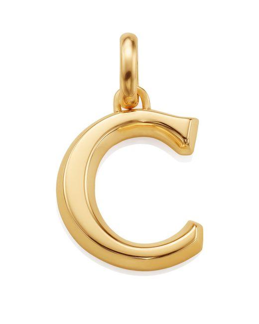 Monica Vinader - Metallic Gold Capital C Pendant - Lyst