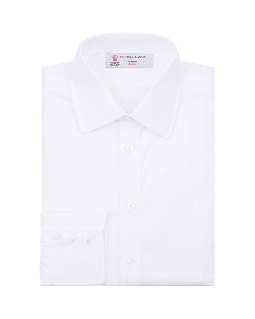 Turnbull & Asser - White Poplin Button Cuff Shirt for Men - Lyst