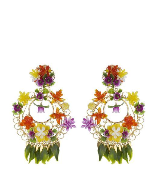 Mercedes Salazar - Metallic Tropical Garden Clip On Earrings - Lyst