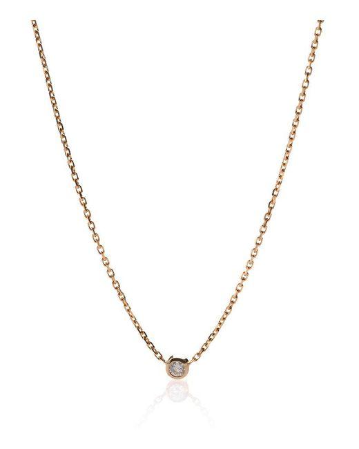 RedLine | Pure Yellow Gold Diamond Necklace | Lyst