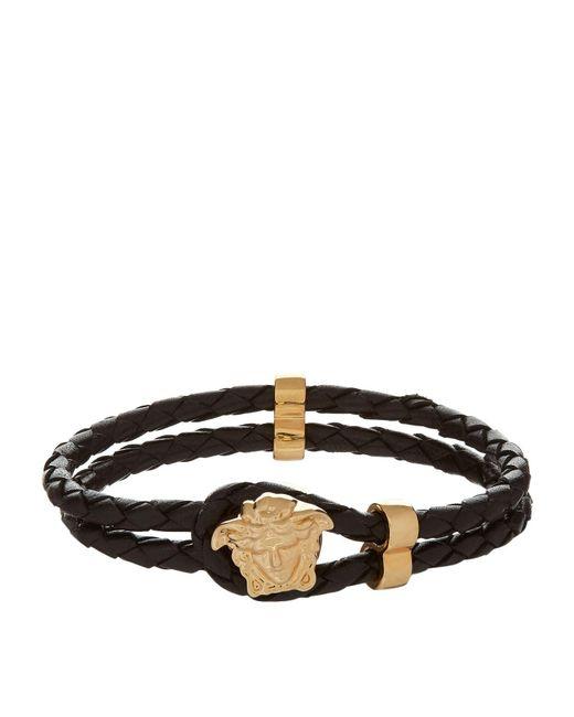 Versace - Black Medusa Head Rope Bracelet for Men - Lyst