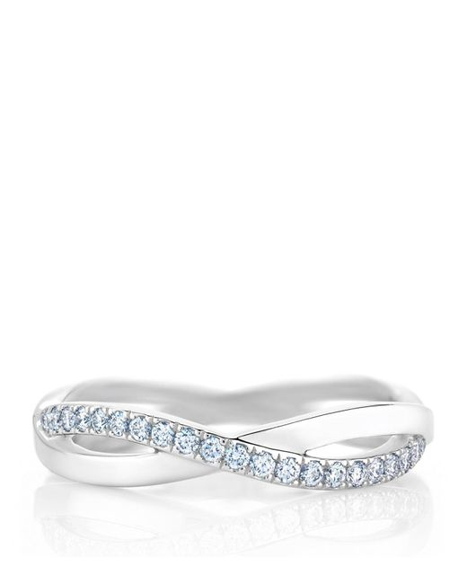 De Beers - Metallic White Gold And Diamond Infinity Band - Lyst