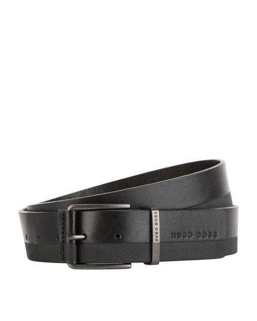 BOSS Green - Black Leather Belt for Men - Lyst