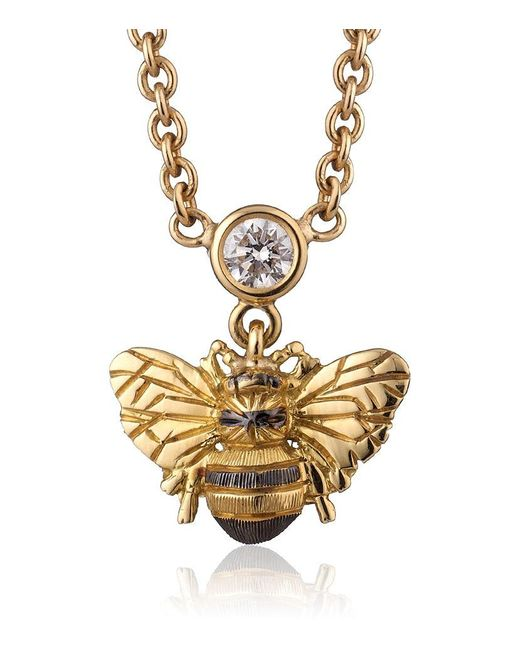 Theo Fennell | Metallic Bee Necklace | Lyst