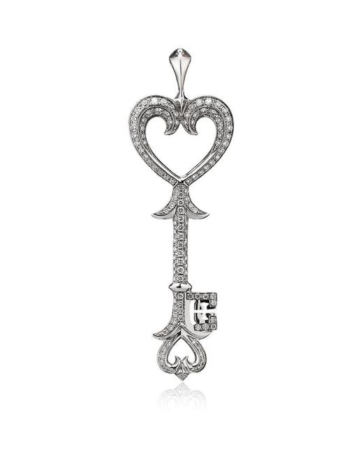 Theo Fennell | White Heart Scallop Key Pendant | Lyst
