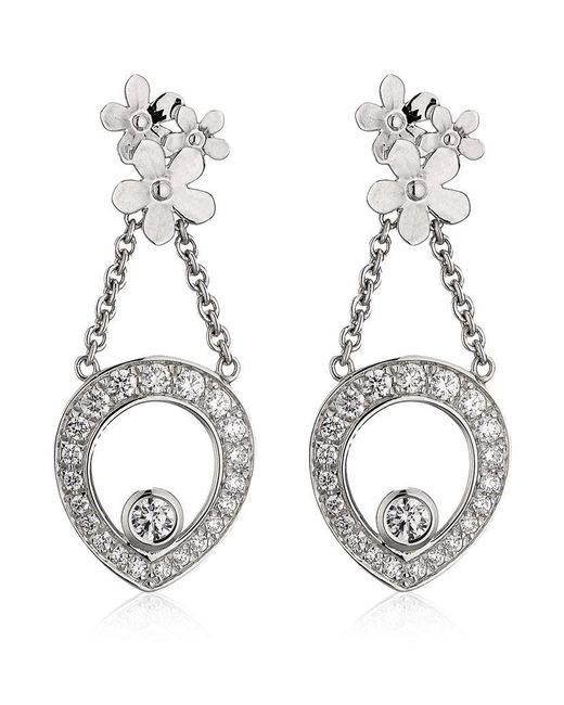 Theo Fennell | White Forget Me Not Tryst Drop Earrings | Lyst