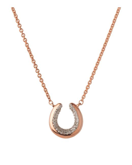 Links of London - Metallic Ascot De Horseshoe Rose Gold Necklace - Lyst