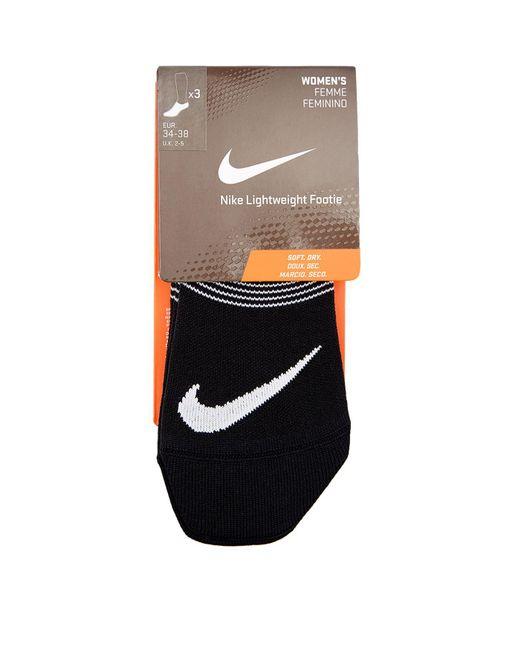 9a9df3cb9 Lyst - Nike Lightweight Sports Socks (pack Of 3) in Black for Men