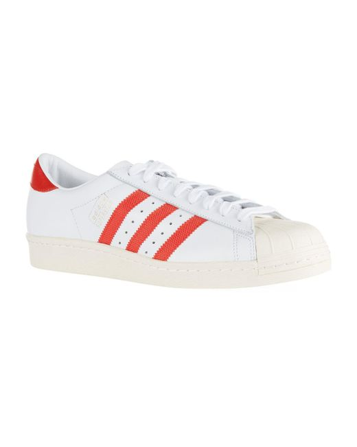 Adidas Originals - White Leather Superstar Sneakers for Men - Lyst