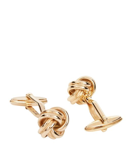 Lanvin - Metallic Twisted Knot Cufflinks for Men - Lyst