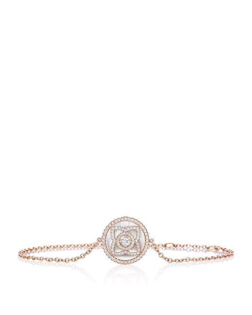 De Beers - Metallic Rose Gold And Mother Of Pearl Enchanted Lotus Bracelet - Lyst