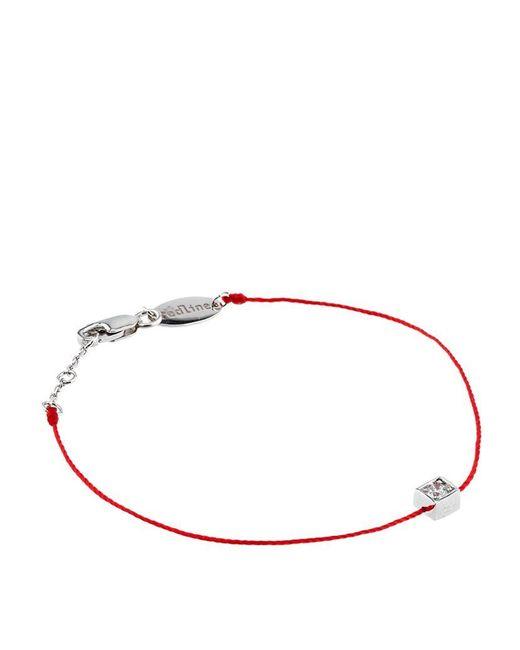RedLine | Red White Gold Cube Bracelet | Lyst