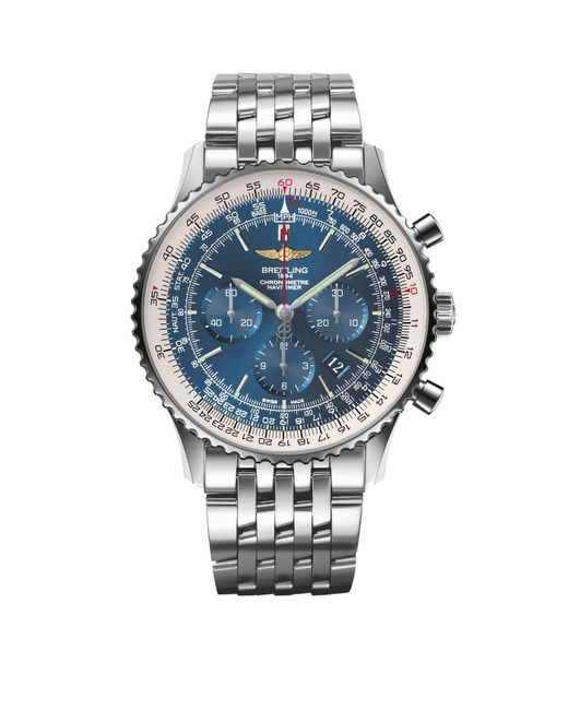 Breitling - Blue Navitimer 01 Automatic Chronograph Watch 46mm for Men - Lyst