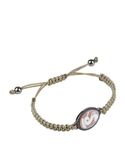 Amedeo - White Snake Macrame Bracelet for Men - Lyst