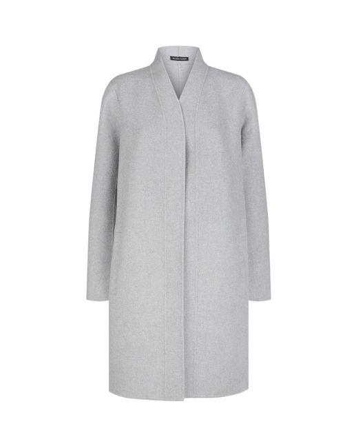 Eileen Fisher   Gray Collarless Wool Coat   Lyst